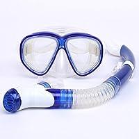 Balena? MK500+ SK900adulti Scuba Diving Set per Snorkeling con Maschera e Occhialini Nuoto subacquea Sport, Blue