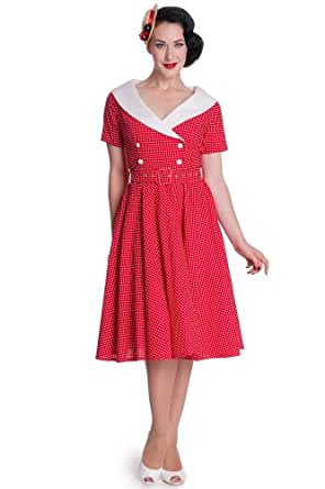 Hell Bunny Kleid CLAUDIA 50'S DRESS 4308 Rot 3XL