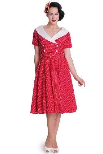 Bunny robe cLAUDIA clair 50 4308 robe Rouge - Red-White