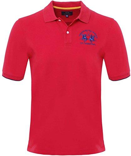 la-martina-plain-polo-shirt-xxl-rosso