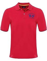 La Martina Einfarbiges Polohemd Rot