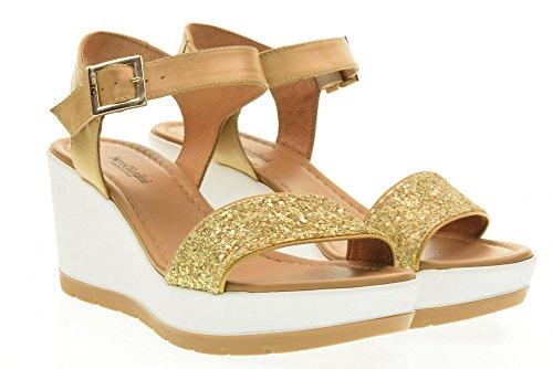 NERO GIARDINI scarpe donna sandali zeppa P717710D/639 Beige-oro