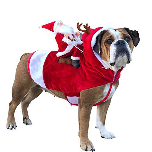 Kostüm Weihnachten Pet Holiday - FORMEG Hundekleidung Haustier Weihnachten Hund Kleidung Hund Kostüme Holiday Party Dressing Up Kleidung Für Kleine Mittelgroße Hunde Funny Pet Outfit Riding