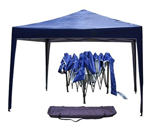 Boudech gazebo richiudibile 3x3 pieghevole a fisarmonica automatico mercato tenda con sacca colore blu *gazecoblu*