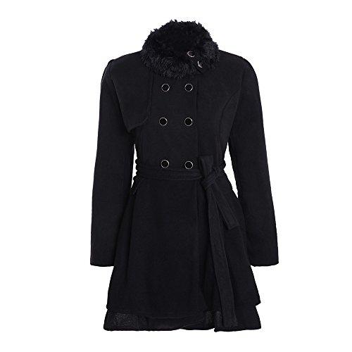 Mambain parka donna invernale eleganti imbottito trench giubbotto donna lungo doppia fila bottoni spessa termica taglie forti manica lungo antivento giacche giacca