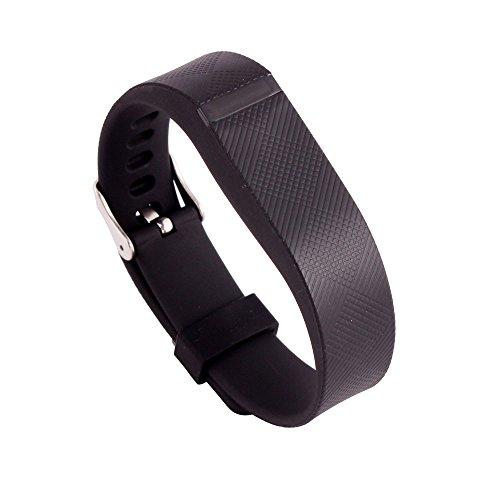 Fitbit Flex Gurt, WEANT FB112Ersatz Handgelenk Band mit Metall Schnalle für Fitbit Flex Armband, Kinder Herren damen, schwarz