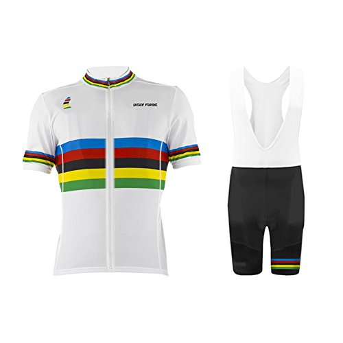 Uglyfrog AT01 2018 New Herren schließen Hülsen Zyklus Jersey Fahrrad Top Outdoor Sports Radfahren Männer Trikot and Bib Kurze Hosen - Skin Suit Tuxedo