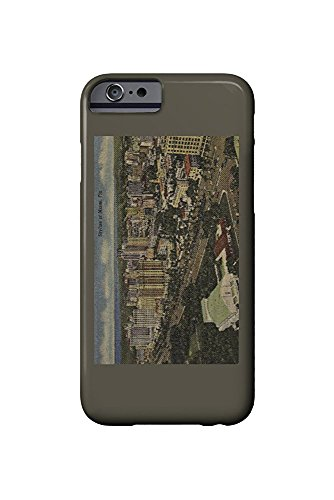 Miami, Florida - Aerial View of Downtown (iPhone 6 Cell Phone Case, Slim Barely There)