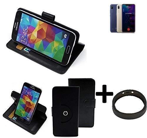 K-S-Trade® Hülle Schutzhülle Case Für -Allview Soul X5 Style- + Bumper Handyhülle Flipcase Smartphone Cover Handy Schutz Tasche Walletcase Schwarz (1x)