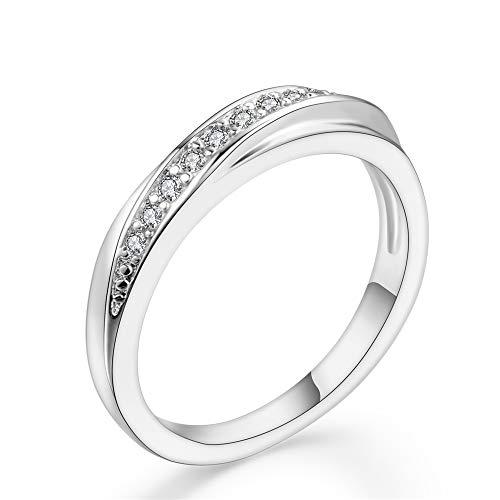 Hksfnsj gioielli per il pollice princess cut cz da donna sottile impilabile in titanio anello di fidanzamento wedding band anelli di fidanzamento san valentino taglie dalla 5 alla 13 fede nuziale