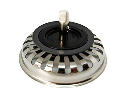 Siebkorbeinsatz für Villeroy und Boch Spülen. Für Ablauf ohne Exzenterbedienung mit 82 mm Durchmesser / Baujahr nach 1997 / Siebkorb / Siebkorbeinsatz