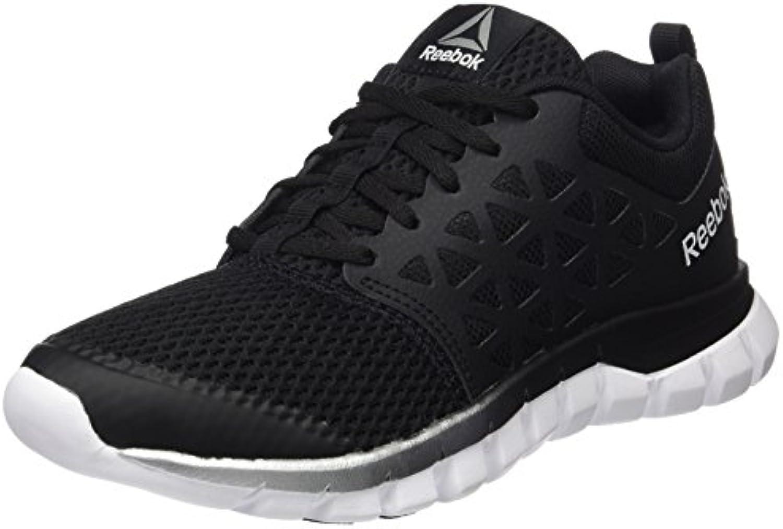 Reebok Sublite XT Cushion MT, Zapatillas de Running para Mujer, Negro (Black/Silver Met/White/Pewter), 35 EU