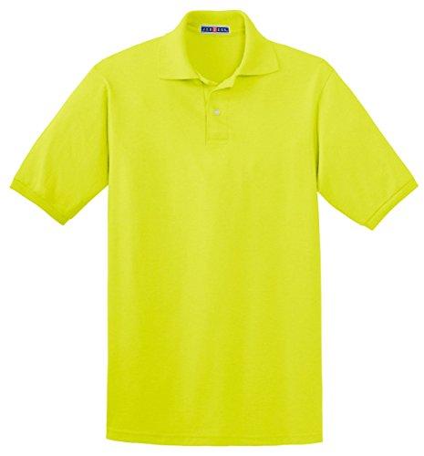 Jerzees 437 5,6 oz 50/50–Polo avec SpotShield Vert (Safety Green)