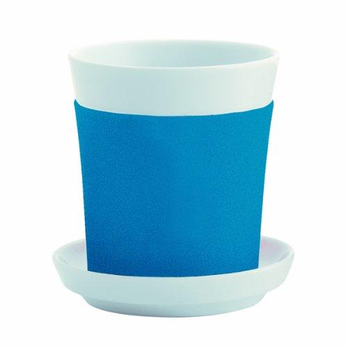 Kahla - Porcelaine pour les Sens 32B201A24015C Touch Update Twinset Drink Tasse/Gobelet à Café + Sous-Tasse Set de 2 Pièces Cyan Bleu 0,3 L