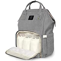 ea7ca9ad551d Diaper Backpack, Large Capacity Baby Bag, Multi-Function Travel Backpack  Nappy Bags,