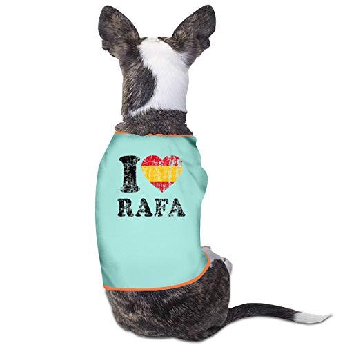 Love Puppy Baby Kostüm - Jiaojiaozhe I Love Rafa Pet Service Pet Clothing Funny Dog Cat Costume Tshirt Sky Blue