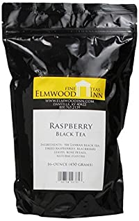 Elmwood Inn Fine Teas, Raspberry Black Tea, 16-Ounce Pouch