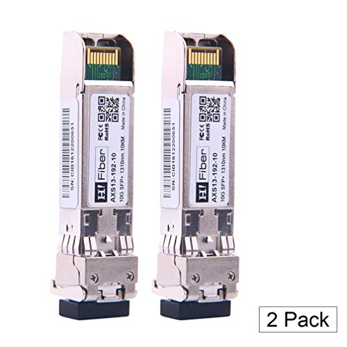 10Gb/S SFP+ Singlemode Transceiver(10km, 1310nm), 10Gbase SFP+ LR LC Modul Kompatibel für Cisco SFP-10G-LR, Ubiquiti, Netgear, D-Link, TP-LINK, Zyxel, Qnap Nas, Mikrotik and Other Open Switch, 2Pack