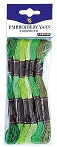 Playbox - Bordado del Hilado (Verdes) - 8 mtrs - 6 Piezas - (PBX2470996)