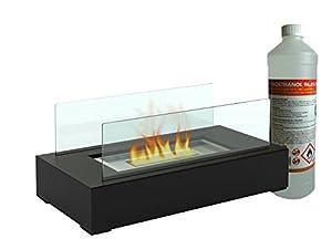 Der wunderschöne Tischkamin (inkl. 1 Liter Bioethanol) ist eine dekorative Idee für ein gemütliches Zuhause. Schaffen Sie mit diesem Bio Ethanol Kamin eine gemütliche, intime Atmosphäre in Ihrem Wohnzimmer oder auch auf der Terrasse. Das Tischkamin S...