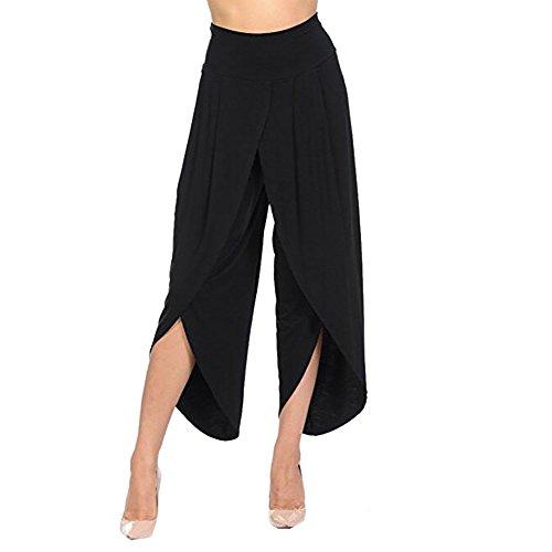 YWLINK Damen Kleidung,Frauen üBerlagert Breites Bein FließEnd Hosen Hohe Taille Breite Beine Hosen - Mädchen Stretch-twill Rock