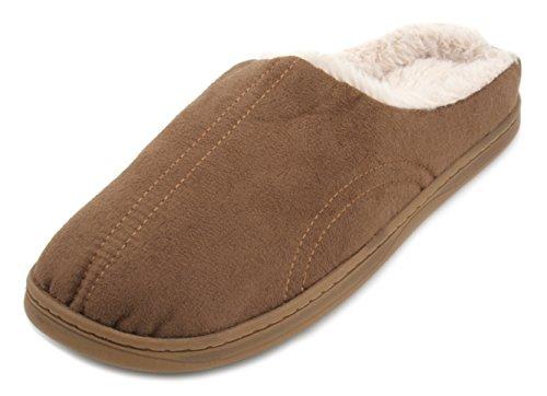 Pantofole da donna in finta pelle scamosciata Tram Line Mule pantofole Brown