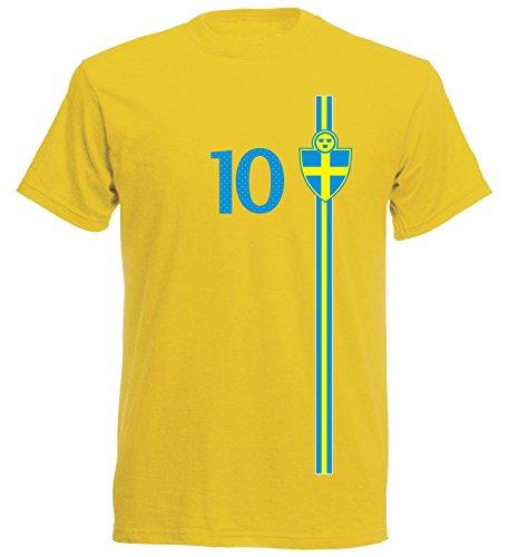 Schweden Kinder T-Shirt Trikot St-1 EM 2016 - gelb Sweden Kids (116)