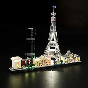 LIGHTAILING Set di Luci per (Architecture Parigi) Modello da Costruire - Kit Luce LED Compatibile con Lego 21044 (Non…  LEGO