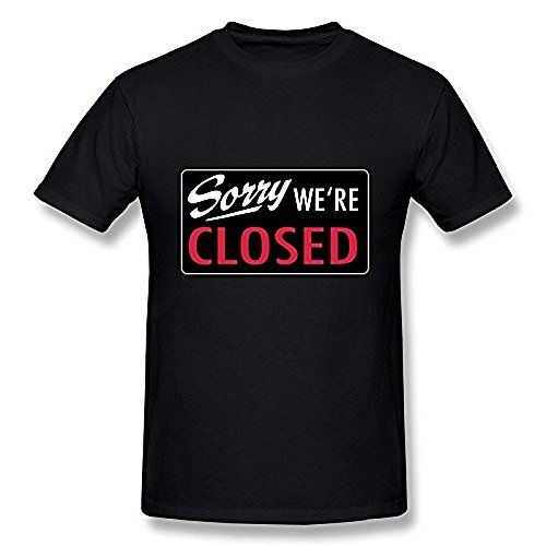 Men's T-shirt Sorry Closed Black