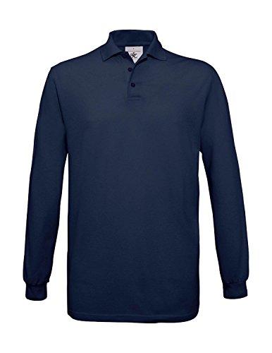 Langarm-Poloshirt 'Safran LS' Navy