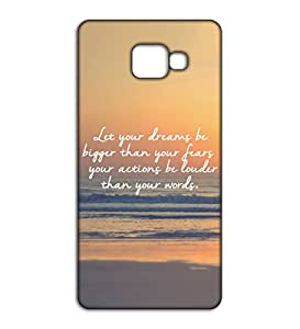 Happoz let your dreams be bigger quote Samsung Galaxy C9 Pro accessories Mobile Phone Back Panel Printed Fancy Pouches Accessories Z675