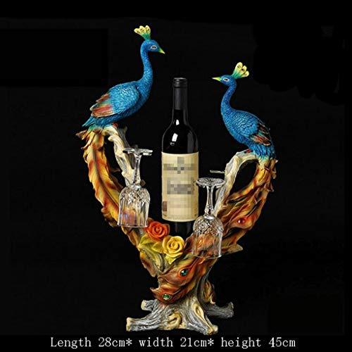ation Pfau Hause Wohnzimmer Weinschrank Dekoration Kreative Getränkehalter Hochzeitsgeschenk Schreibtisch Dekorationen ()