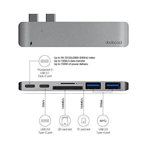 41MSThuPczL - [Amazon.de] dodocool Dual USB-C Hub für 35,99€ statt 59,99€