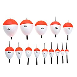 Docooler 14pcs Fishing Floats Fishing Accessory With Sticks