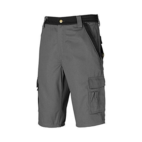 """Dickies Industry 300 - Pantaloni Corti da Lavoro con Vita Elasticizzata - Uomo (46"""") (Grigio/Nero)"""