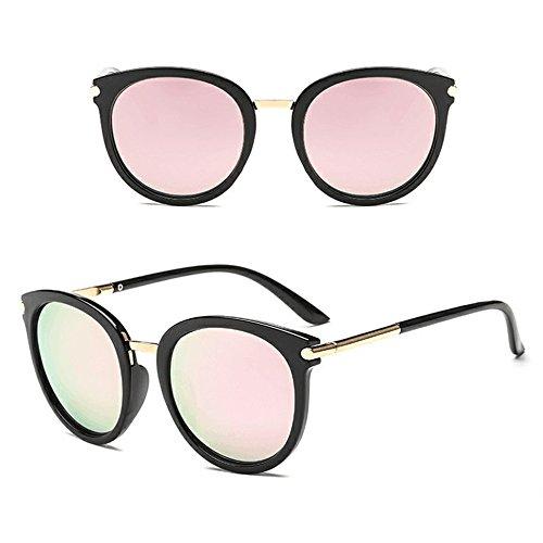 Sonnenbrille Rund Verspiegelt Retro Unisex Frauen Männer Vintage Cat Eye Unisex Sonnenbrille Rapper Brillen mit UV400 Schutz