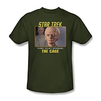 Star Trek - St / The Cage Adult T-Shirt In Military Green, XXX-Large, Military Green