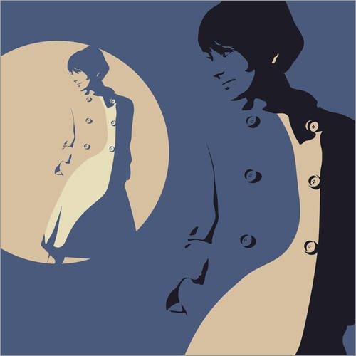 Leinwandbild 70 x 70 cm: En Vogue 1964, Ein Hauch von Dior von JASMIN! - fertiges Wandbild, Bild auf...