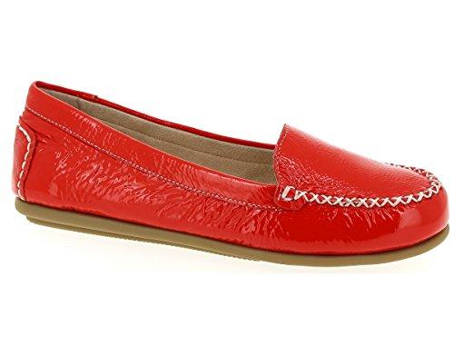 Caprice 9-9-24602-26 505 Mokassin, Farbe Rot, echt Lackleder (37)