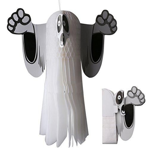 A-szcxtop Halloween zum Aufhängen Tissue Fledermaus für Halloween Party Dekoration Zubehör Fold Wing schwarz Papier bat-2PCS ein Set Ghost