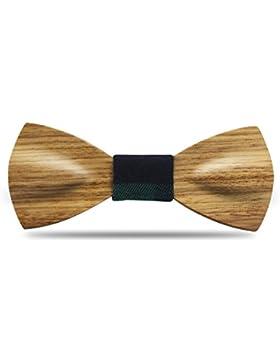 YFWOOD Pajarita, hecho a mano maderas de corbata única palos de vestir tallados pajarita para caballeros, pre...