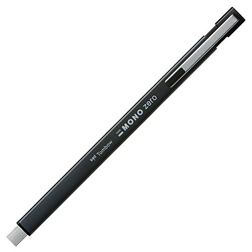 Tombow pencil eraser mono zero metal square type black EH - KUMS 11 Japan