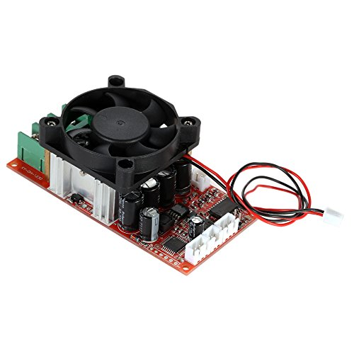 KKmoon DC Motor Speed Control PWM Drehzahlsteller Verstellbare H-Bridge mit SPS-Steuerung Umkehr Switch Bremsen Ventilator 12V 24V 36V 50V Geschwindigkeit Einsteller 1500W Pulse Width 0-100% (Dc-motoren Arbeiten)