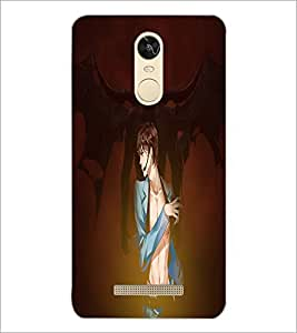 PrintDhaba Girl image D-4434 Back Case Cover for XIAOMI REDMI NOTE 3 PRO (Multi-Coloured)