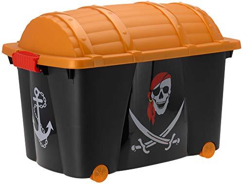 Emako storage box pirata petto cassettiera su ruote pirate toy storage box 57l