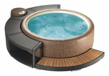 Marinoir 5/8-Whirlpoolumrandung mocca für Softub 300 Resort & 220 Legend,