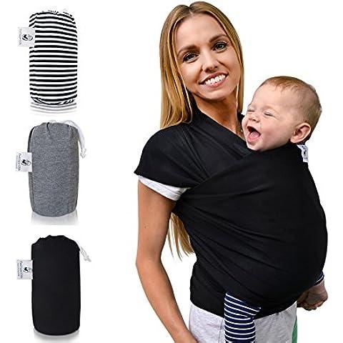 Saller fastique Kids Pañuelo Baby (520cm X 55Cm) elástico portabebés–Paños Früh de y Recién Nacidos de transporte con instrucciones–Transporte de otros