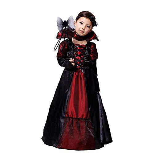 Elsa Hunde Kostüm - GJKK Halloween Kostüm Kostüm, Mädchen Halloween Cosplay Zauberer Hexe Kleider Langarm Hexenkostüm Zunderhexen-Kostüm Kinder Mädchen Outfits Rapunzel Kleid Kostüm, Schwarz