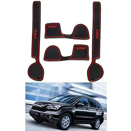 UHAoo 4PCS / Set Auto-Tür-Groove Slot Latex Non-Rutsch-Matte Innen Cup Kissen Ersatz für Honda CRV 2008-2010 (Crv Teppich)