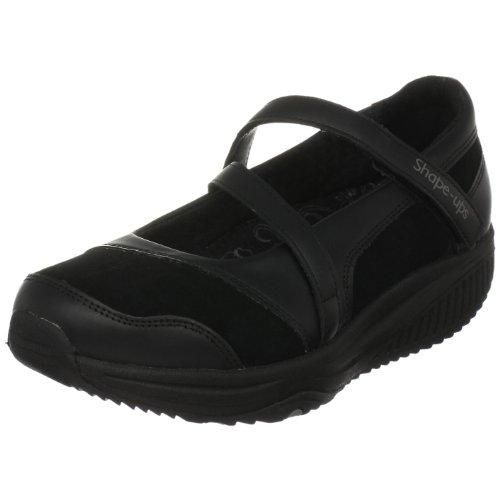 Damen Skechers Shape (Skechers Shape-ups XW Hyperactive 24866 BBK, Damen, Ballerinas, Schwarz  (BBK), EU 38.5)